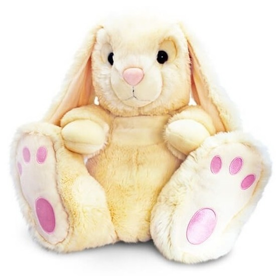Beige knuffel konijntje 25 cm