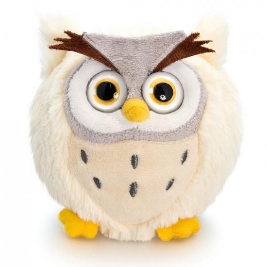 Beige uilen knuffel 10 cm