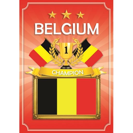 Belgie deurposter zwart geel rood