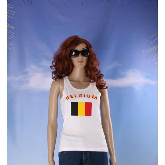 Belgische vlag tanktop / singlet voor dames