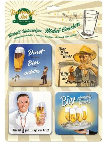 Bier onderzetters 9 x 9 cm