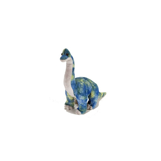 Blauw met gele knuffel brachiosaurus 48 cm