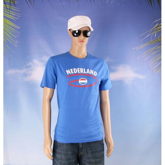 Blauw Nederland shirt voor heren