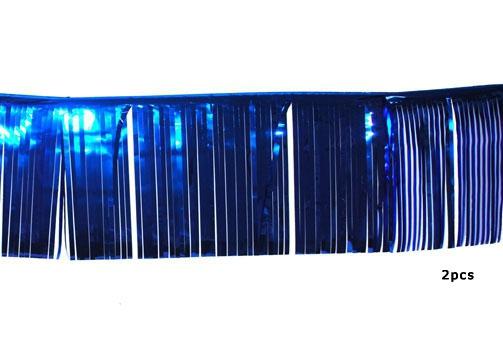 Blauwe glitter slingers 25 x 300 cm