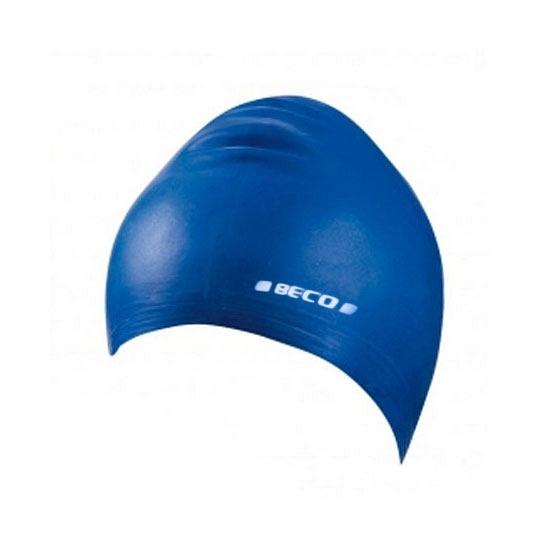 Blauwe kinder badmuts van siliconen