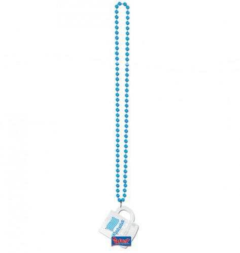 Blauwe shotglass ketting Bierfeest