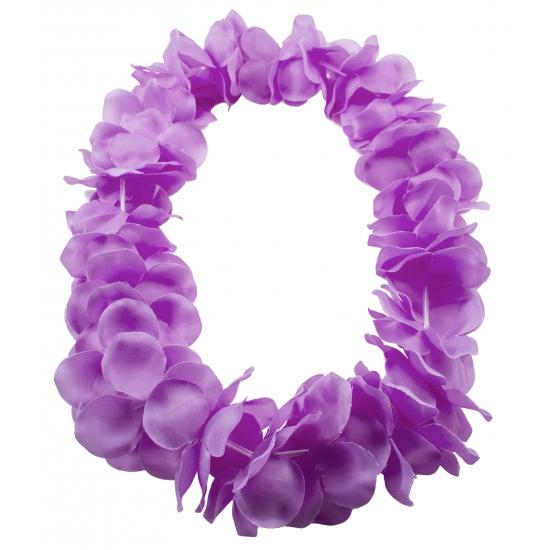 Bloemenkrans ketting paars