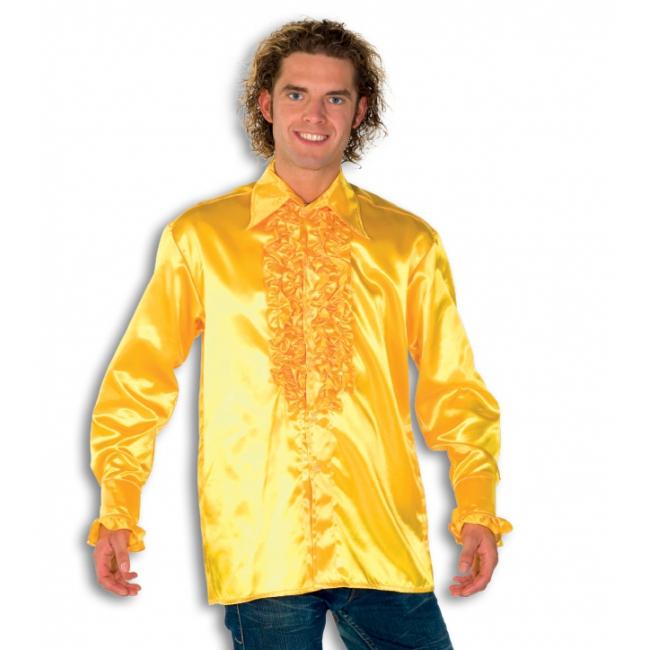 Blouse geel met rouches heren