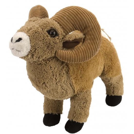 Bruine knuffel ram 30 cm