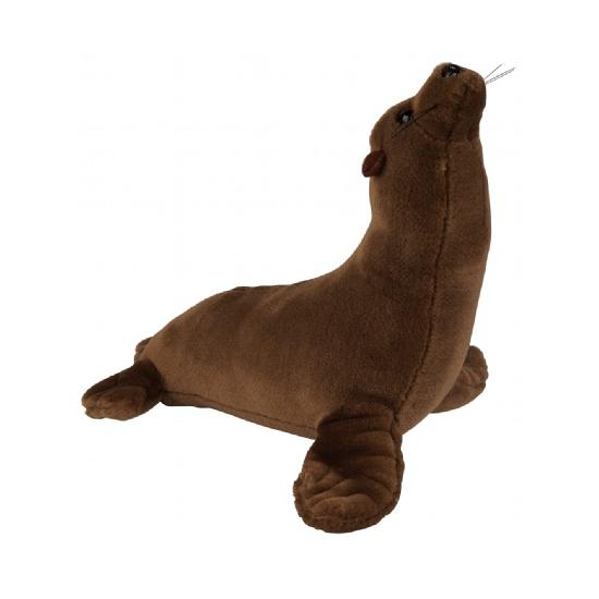 Bruine knuffel zeeleeuw 23 cm
