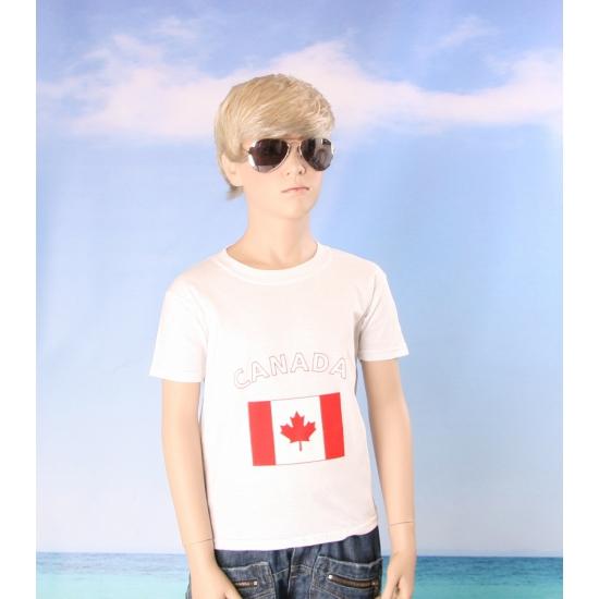 Canadees vlaggen t shirts voor kinderen