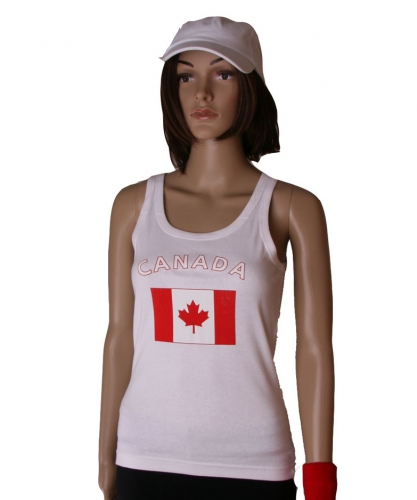 Canadeese vlag tanktop/ singlet voor dames