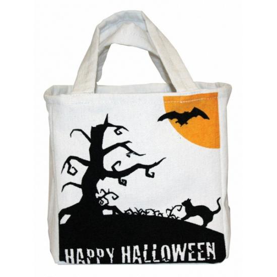 Canvas snoep tasje voor Halloween