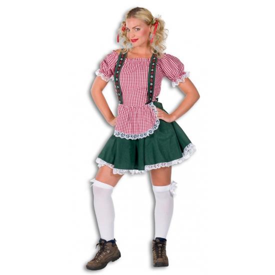 Carnavalskleding Tirol dames groen