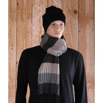 Casual sjaal grijs met beige