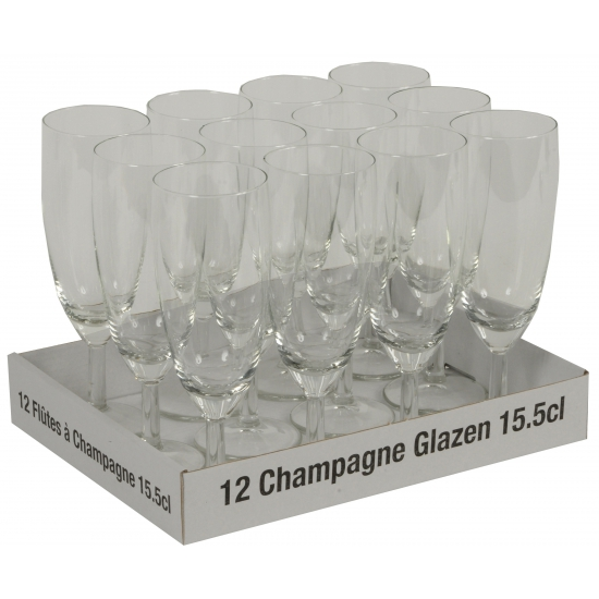 Champagne flutes tray 12 x