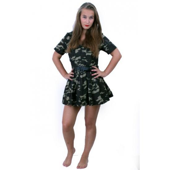 Dames jurkje met camouflage print