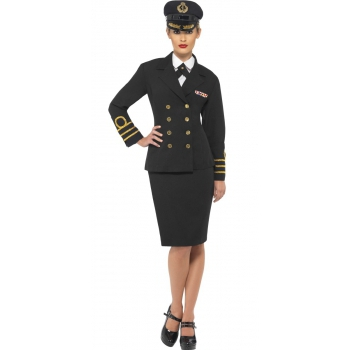 Dames kapitein kostuum