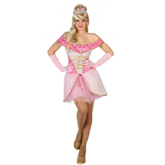Dames prinsessen jurk roze