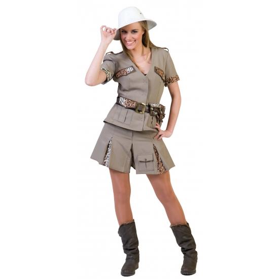 Dames verkleedkleding safari