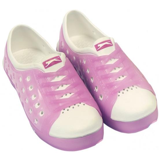 Dames waterschoen van het merk Slazenger in roze wit
