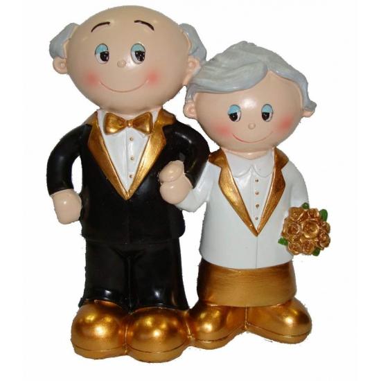 Decoratie bruidspaar gouden huwelijk