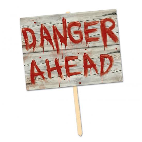 Decoratie danger ahead