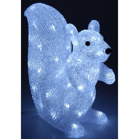 Decoratie eekhoorn met 60 led lampjes
