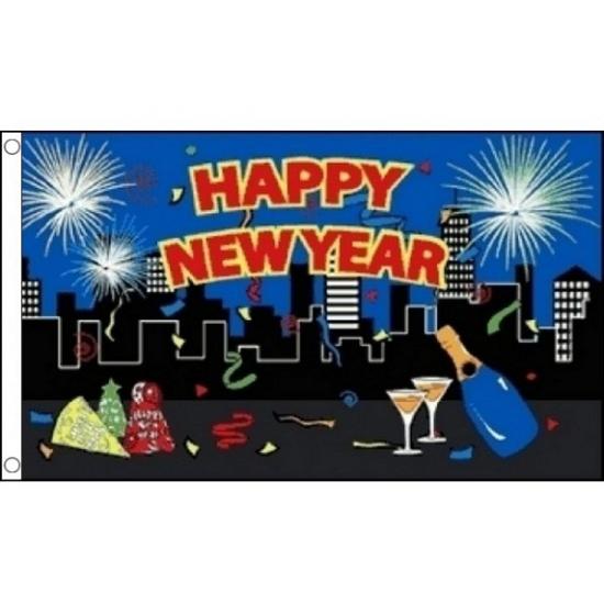 Decoratie vlag Happy New Year