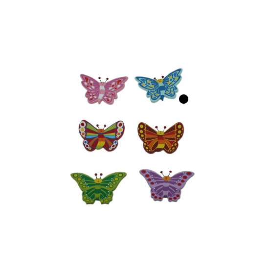 Decoratie vlinder magneet blauw