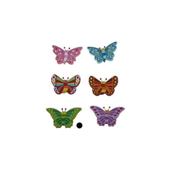 Decoratie vlinder magneet groen