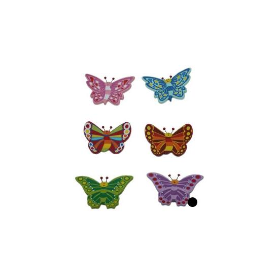 Decoratie vlinder magneet paars