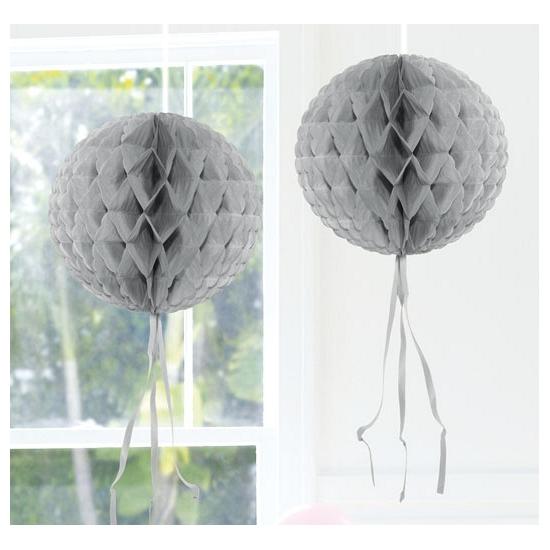 Decoratiebollen zilver 30 cm
