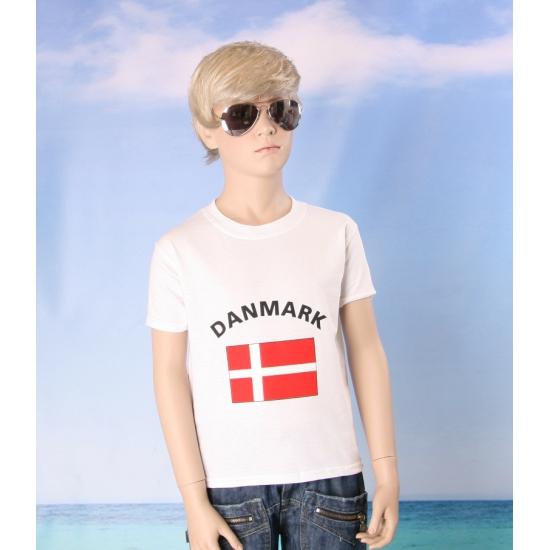 Deense vlaggen t shirts voor kinderen