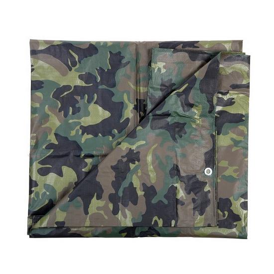 Dekzeil 3 x 3 80 meter camouflage