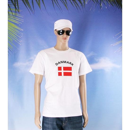 Denemarken vlaggen shirts