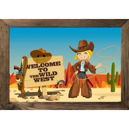 Deurposter wilde westen thema
