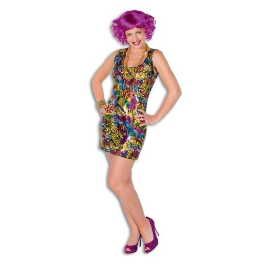 Disco thema jurk gekleurd