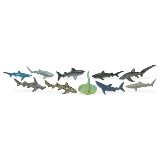 Diverse haaien van plastic