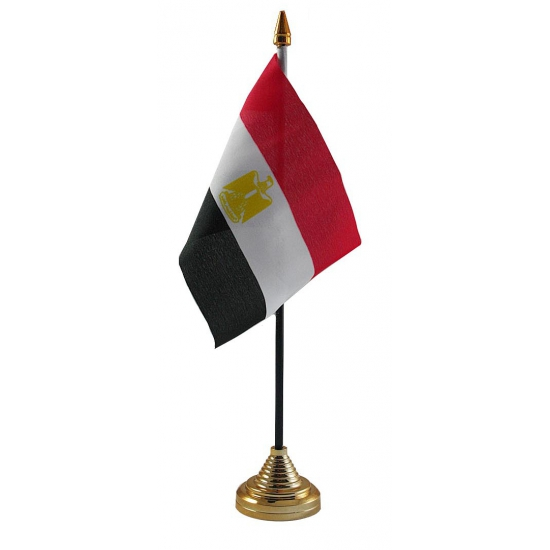 Egypte vlag met standaard