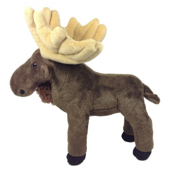 Eland knuffels bruin 30 cm