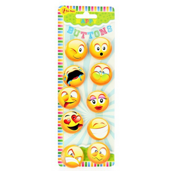 Emoticon buttons 10 stuks