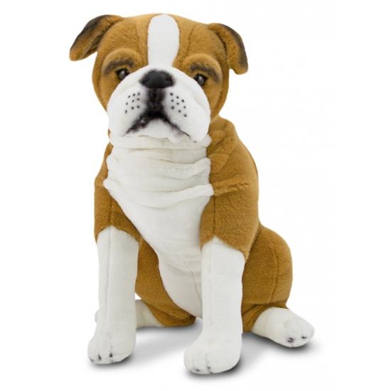 Engelse bulldog knuffels 53 cm