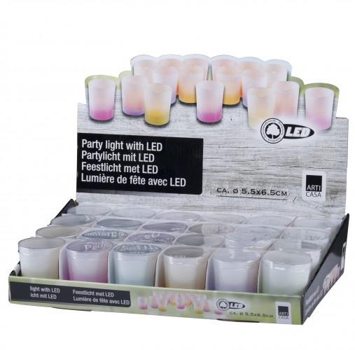Feest kaarsje met LED