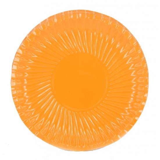 Feestbordjes oranje 18 cm