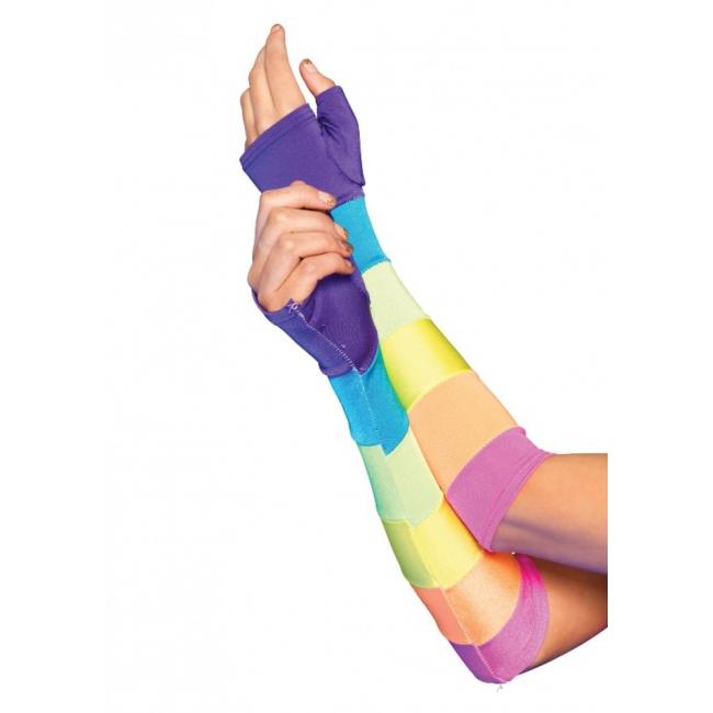 Fel gekleurde lange handschoenen