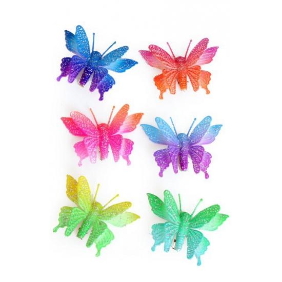 Fel gekleurde vlinder haarspeld