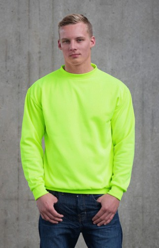 Fel groene sweater for heren