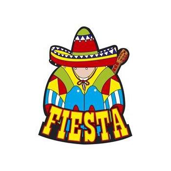 Fiesta decoratie bord 55 x 55 cm