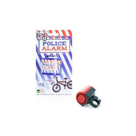 Fietsbel met politie sirene geluiden